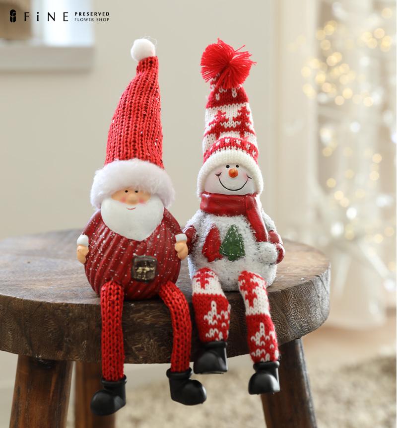クリスマス雑貨 オーナメント 北欧 かわいい サンタクロース スノーマン 雪だるま 毛糸 オブジェ