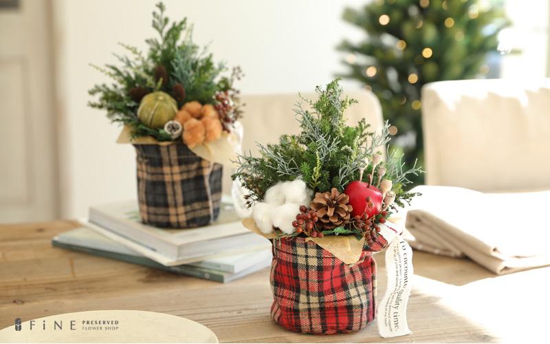 プリザーブドフラワー クリスマスツリー プレゼント ギフト ワイルドフラワー wildflower