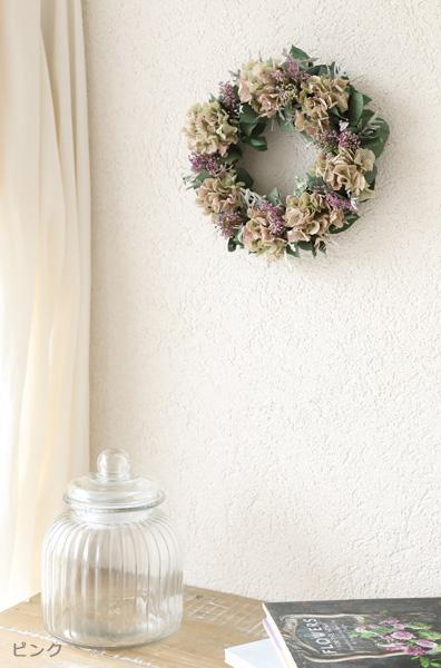 プリザーブドフラワー 紫陽花 リース ギフト ディスプレイ ナチュラル インテリア ニュアンスカラー