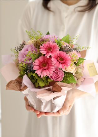 プリザーブドフラワー ギフト ガーベラ ピンク 結婚 開店開業 新築祝い ウェディングギフト プレゼント