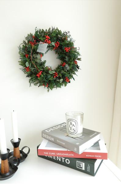 プリザーブドフラワー ギフト クリスマス リース クリスマスカラー ディスプレイ インテリア