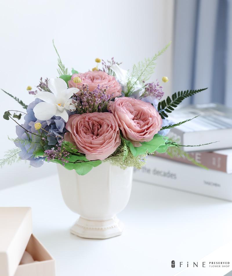 プリザーブドフラワー ギフト パープル ブルー ピンク 紫陽花 ローズ 結婚 開店開業 新築祝い ウェディングギフト プレゼント
