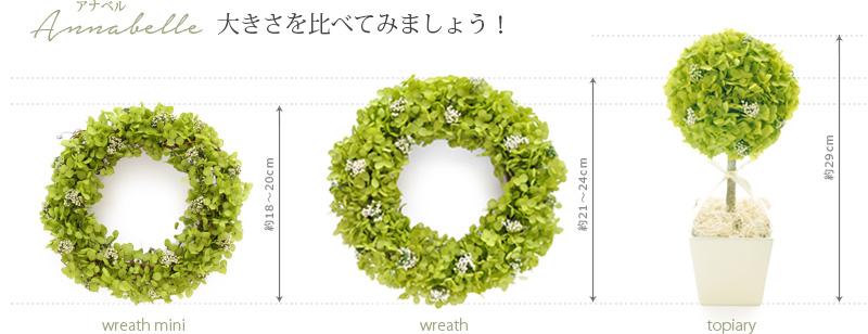 枯れない観葉植物 リース